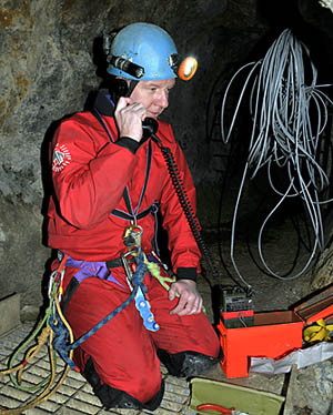 Carrying out underground communications tests, 2012