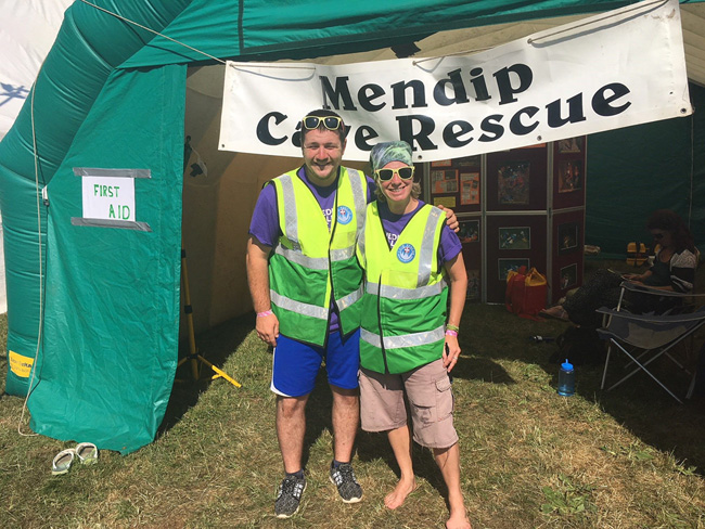 Supporting Mendip Cave Rescue at Priddy folk festival
